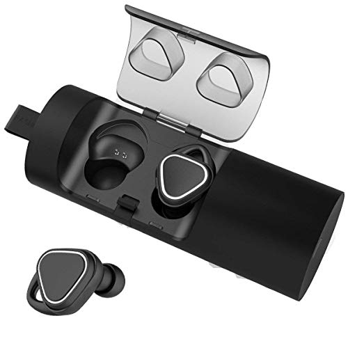 Wireless Earbuds, Bluetooth Headphones Mini Stereo in Ear Earphones with Mic, Case, Noise Cancelling Headphones for iPhone and Android
