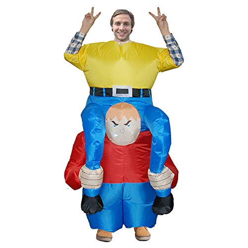 MoreToys Inflatable Rider Halloween Blow Up Costume Fancy