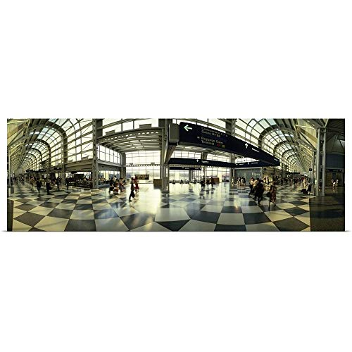 GREATBIGCANVAS Poster Print Entitled Passengers at an Airport, Ohare Airport, Chicago, Illinois by 48