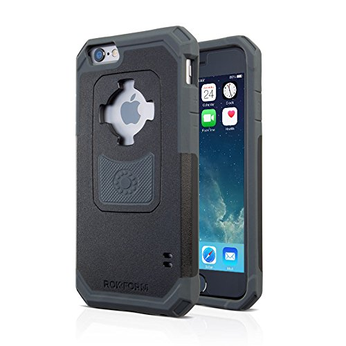Rokform iPhone 6/6s Rugged Series Military Grade Magnetic Protective Phone Case with twist lock & universal magnetic car mount (Black/Gun Metal) 302243