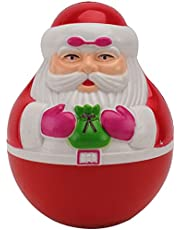 EXCEART 1 pc Xmas Santa Claus Roly Poly Wobbly Toy Kid Musical Toy Creative Santa Claus Roly- poly Toy Tumbler Doll with 20 Christmas Songs