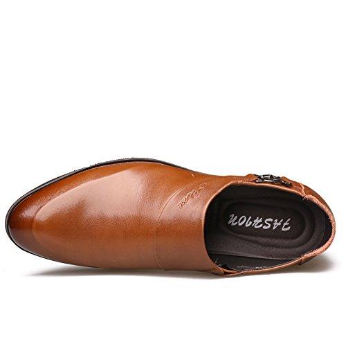 de Slip microfibra Casual ons estrecha Brown para Zapatos Zapatos de Zapatos boda de mocasines Negro Marrón negocios GLSHI hombres y formales punta de gnfxxwqUIP