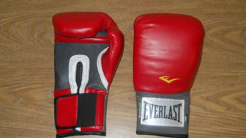 (Everlast Pro Style Training Gloves (Red, 16)