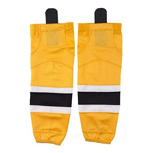 Ice Hockey Socks Women, COLDINDOOR Men Big Boy Knit Hockey Socks Adult Senior Yellow L