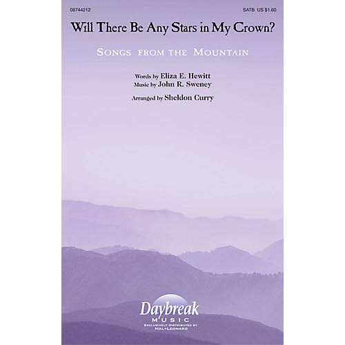 - Will There Be Any Stars in My Crown? SATB arranged by Sheldon Curry, Pack of 3