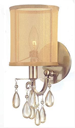 Crystorama 5621-AB Hampton Wall Sconce, 1-Light 60 Watts, Antique ()