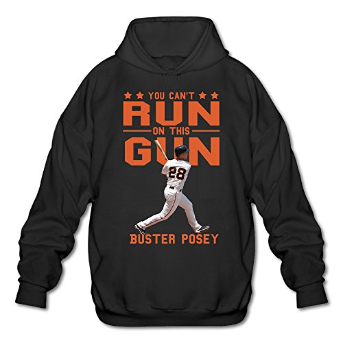 AUSIN Men's San Francisco Buster #28 Posey Hoodie Black Size XXL -
