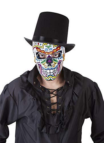 El Día de los Muertos The Day of The Dead - Katrin Skull Mask, Multi-Colour (Rubies S3190) -