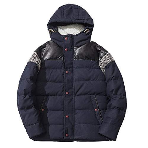Pulsanti Di Piumino Giacche Blau Cappotto Hx Degli Abbigliamento Laterali Modo Uomini Lunghe Con Tasche Comode Cappuccio Outdoor Maniche Dimensioni 6HwZnxB