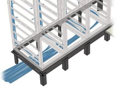 RIB Series Raised Floor Support Angles for Use with RIB-X-MRK-42 Riser Bases Number of Bays: 1 by Middle Atlantic (Image #1)