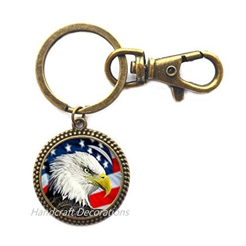 Bald Eagle Keychain (American Bald Eagle Key Ring Keychain,American Flag Key Ring,Charm Keychain Patriot Key Ring.F214American Bald Eagle Key Ring Keychain,American Flag Key Ring,Charm Keychain Patriot Key Ring.F214 (E2))