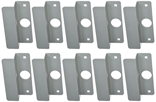 Don-Jo OLP-2651 12 Gauge Steel Latch Protector, Silver Coated, 2-5/8'' Width x 6-1/2'' Height, For Center Hung Outswinging Aluminum Doors (Pack of 10) by Don-Jo