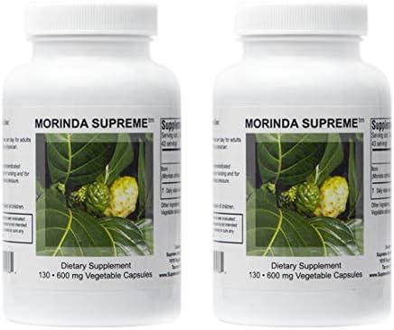 Supreme Nutrition Morinda Supreme Dual Pack   130 Whole Noni Fruit 730 mg Capsules   2190 mg per Serving