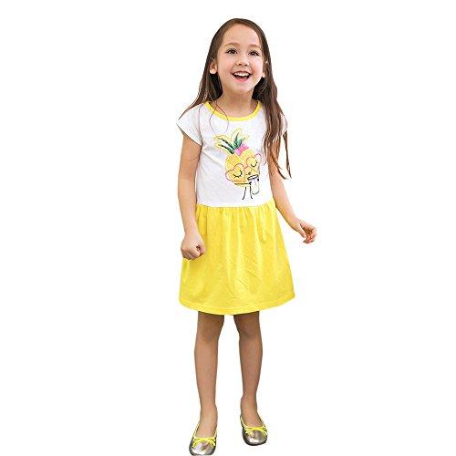 [해외]여자 공주님 복장, Mosunx 옷 입은 남자 짧은 소매 프린트 드레스/Girls Princess Dress, Mosunx Pageant Short Sleeve Print Dresses