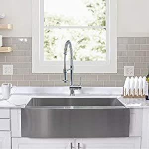 41VOjxxEW8L._SS300_ 75+ Beautiful Stainless Steel Farmhouse Sinks