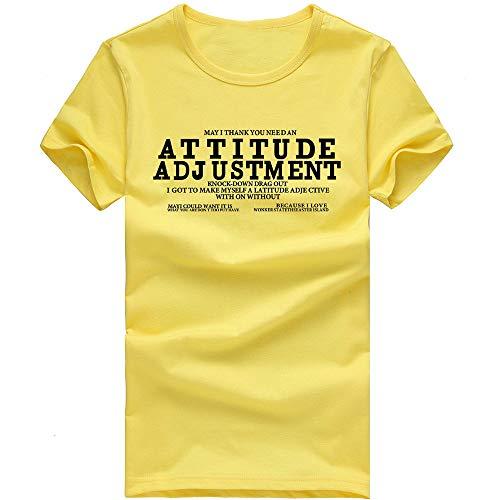 - Pottseth Tank Tops Mens Hipster Hip Hop Graffiti Print Slim Fit Long Sleeve Crew Neck T-Shirt Shirts Casual Tops Tee Yellow
