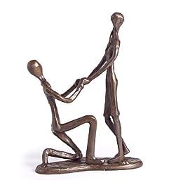 Danya-B ZD9027 Danya B. Proposal Cast Bronze Sculpture