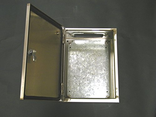 YC-20X16X10-SS YuCo IP65 16 GAUGE INDOOR / OUTDOOR WALL-MOUNT STAINLESS STEEL ENCLOSURE 20''(500)H X 16''(400)W X 10''(250)D by Yuco (Image #3)