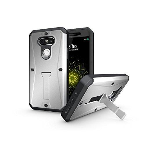 Tough Hybrid Dual Layer Case for LG G5 (Silver) - 9