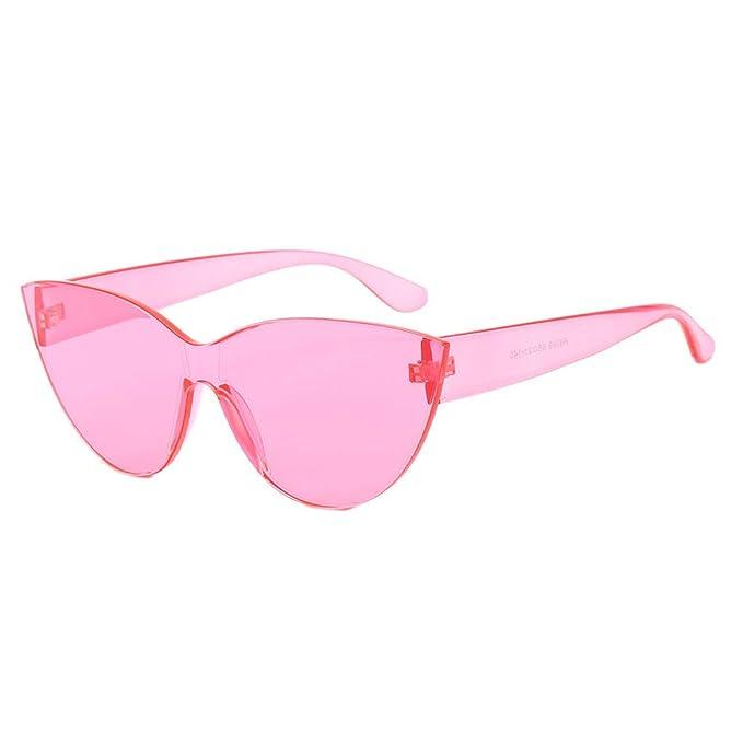 Gafas de Sol Polarizadas Sin Montura Una Pieza Reflexivo ...