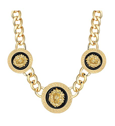"""Basketball Wives Love and Hip Hop Atlanta Rihanna 18""""L Celebrity Inspired Lion Head Chain Link Necklace"""