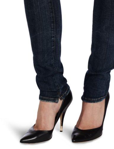 Diesel Skinny Jeans Grupee Blau Mit Used-look