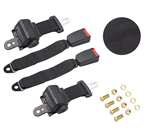 (TOYI Universal Retractable Belts for Golf Carts - Set of 2 - Keep Inside The cart! )