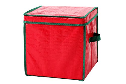 Juvale Christmas Ornament Storage Container with Dividers - Holiday Cube Ornament Organizer - Holds 64 Ornaments - 12 x 12 x 12 Inches