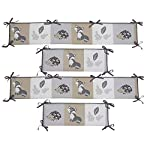 Bedtime-Originals-Little-Rascals-Forest-Animals-4-Piece-Crib-Bumper-GrayWhite