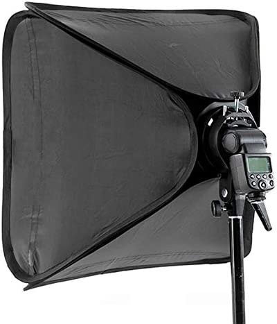 WQYRLJ Flash Softbox 40X40 cm Diffuser Reflector for Camera Speedlite Flash Light Professional Photo Studio Portrait and Product Photography