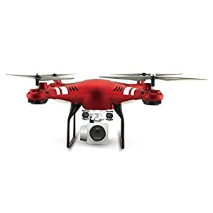 Ounice 2.4G Altitude Hold HD Camera Quadcopter RC Drone WiFi FPV Live Helicopter Hover (Red)
