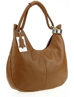 4564e8e7c9e3d OBC Made in Italy Damen Echt Leder Shopper Tasche Ledertasche Handtasche  Henkeltasche Schultertasche