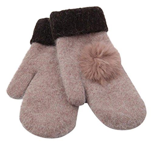 Women's Warm Winter Gloves Mittens Rose Gold - 4