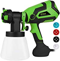 Paint Sprayer, Ginour 600W Electric Paint Sprayer with 4 Nozzle 3 Painting Modes, FenceSprayer with 1000ml Detachable...
