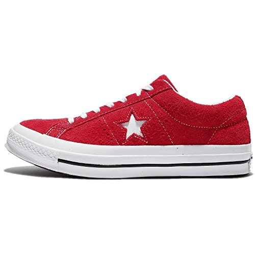 Converse Men's One Star Suede Low Top Sneakers, Red, 8.5 M US
