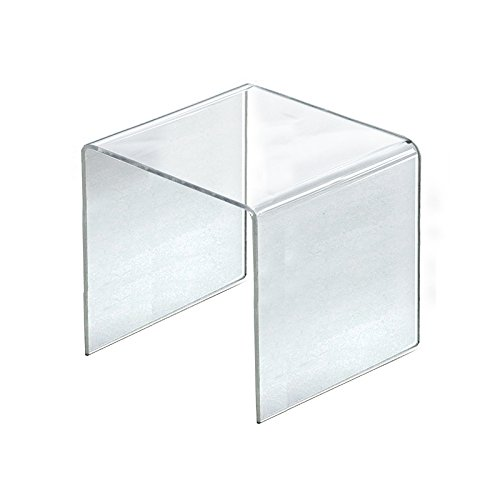 Count of 4 New Retail Clear Acrylic Riser Square Display 9.5''W x 9.5''H x 9.5''D