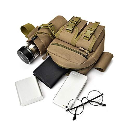 Randonnée Pack à Sac Khaki Bandoulière Poche Taille Bouteille Camping Senoow Porte Tactique Militaire AECwq0xqI