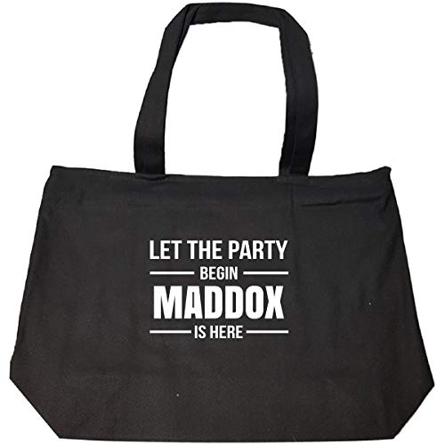 Let The Party Begin Maddox Is Here Cool Gift - Tote Bag With Zip
