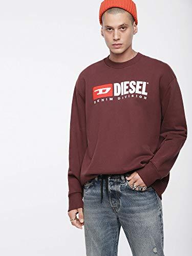 Diesel S 44g Sweatshirt Bordeaux Crew Pull Division ppraxqP6