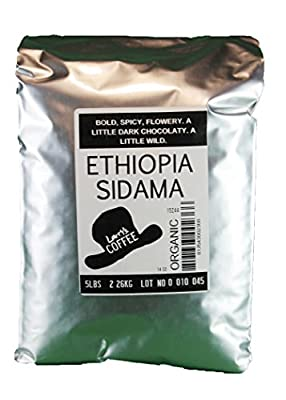 Larry's Coffee Organic Fair Trade Whole Bean, Ethiopia, 5-Pound Bag