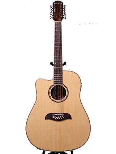 Oscar Schmidt by Washburn Left Hand OD312CE 12 String Acoustic Electric Guitar, Natural, Lefty, OD312CELH