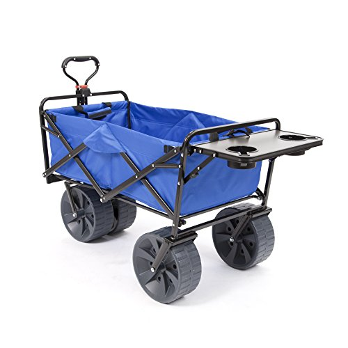 Mac Sports Heavy Duty Collapsible Folding All Terrain Utility Wagon Beach Cart with Table - ()