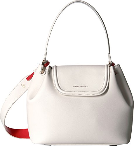 Emporio Armani Women's Eco Leather Shoulder Bag White/Black/Coral One - Armani Women Bag