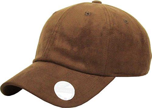 KBE-SUE-Classic LBR 6 Panel Suede Dad Hat Baseball Classic Adjustable Soft Plain Cap