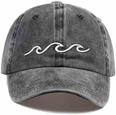 7eb994ed6f4b0 Sea Wave Embroidery Unisex Baseball Cap Cotton Adjustable Fashion Outdoor  Casual Caps