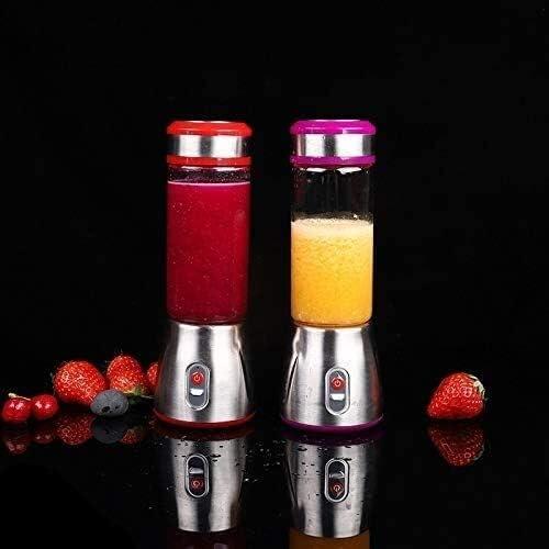 LAMTON Mini USB portátil Recargable eléctrico Licuadora Smoothie Juguera Vaso Mezclador exprimidor de Fruta de Naranja Zumo Extracto