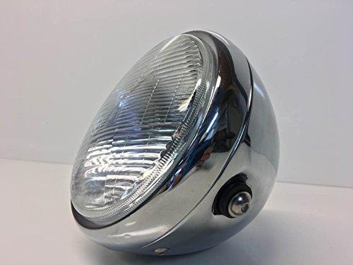 7' INCH Chrome Universal Metal Classic Headlight 6' lens Side Mount
