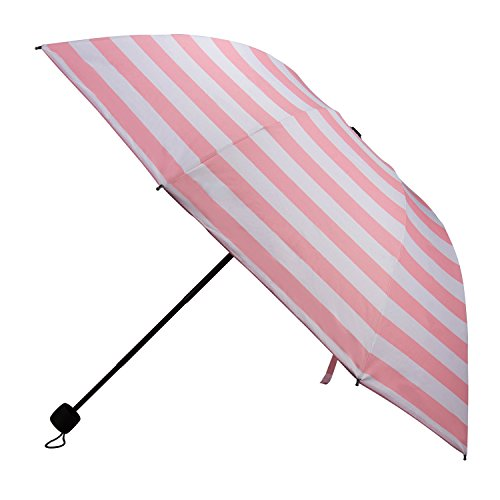 Foldable Travel Umbrella, 8 Rib, Wind Proof, Sun Block UV Protection, Shade, Light - Light Radioactive