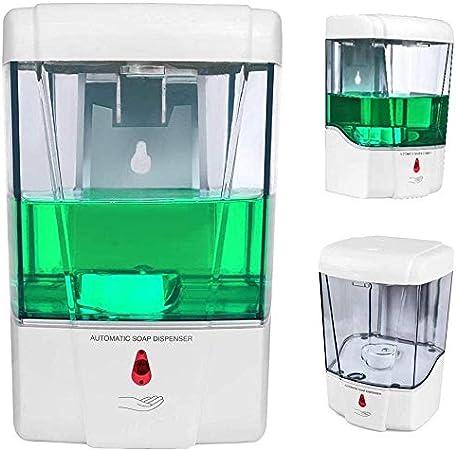 Image of ConpConp - Dispensador de jabón automático (700 ml) sin contacto (con sensor de infrarrojos) y alimentado con pilas. Para cocina y baño