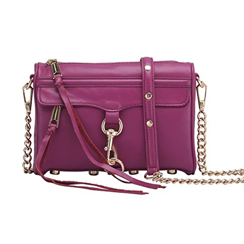 Bag Messenger Genuine Cowhide Shoulder Fashion Handbags Baguettes Purple Leather Totes Zipper Gshga black4 RqWaO0qw